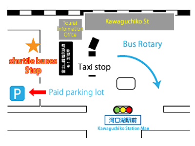 free shuttle buses stop map