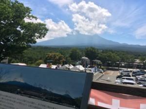 道の駅なるさわ 展望台(富士山眺望)