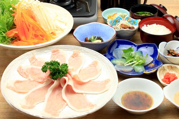 甲州富士桜ポークの豚しゃぶ 写真
