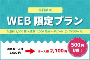 【平日限定】WEB限定プラン